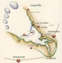 parcours traversée de la baie GENÊTS Mont Saint Michel