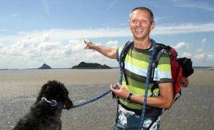 Didier votre guide et RAFFIA fidéle compagne pour la traversée