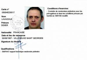 carte professionnelle éducateur sportif guide de la baie du mont saint Michel
