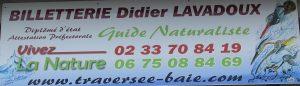 rendez vous à l'enseigne guide de la baie du Mont Saint Michel Didier LAVADOUX