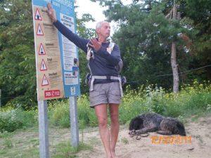 ennoncé des règles de sécurité avant la traversée de la baie