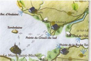 traversée de la baie du mont saint Michel départ VAINS